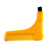 EZGO Beard Styling and Shaping Template Comb Tool With Beard Brush