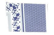 Polish Pottery Vintage Blue Daisy Tablecloth