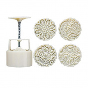 Kangkang@ Moon Cake Mould 4 Cookie Stamps Flower Pattern Cookie Mould Pie Mould 125G