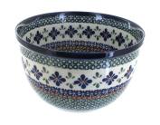 Polish Pottery Mosaic Flower Medium Mixing Bowl