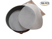 # 1 Best Parchment Paper for Baking & Cooking - Pre Cut 23cm Rounds - 100 SHEETS PER PACK- Eco Friendly - Unbleached - Heat Resistant - Non-Stick - Suitable for all Baking & Air Fryers - .