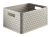 Sundis A4 Country Plastic Basket 14.5 x 27.8 x 19.1 cm Taupe taupe