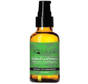 Collagen Booster Retinol with Hyaluronic Acid Serum , Organic Aloe Vera, Vitamin E + Gotu Kola - Fade Dark Spots, Reduce Fine Lines, Wrinkles - Nightly Anti Ageing Moisturiser , 30ml, by iQ Natural