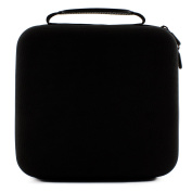 Essential Oil Carrying Case Holds 30 5ml/10ml/15ml Bottles; Black Nylon Travel-Friendly Foam-Padded Organiser with Handle and Zipper