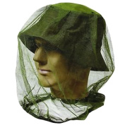 HugeStore Mosquito Mesh Head Net Insect Hat Bug Mesh Net Face Protector Travel Camping