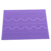 Kitchen Silicone Mat,Cake Lace Fondant Mould Flower Pattern Embossed