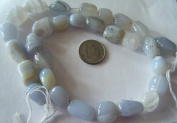 Bead, Blue Lace Agate Nugget Gemstone- 8pcs