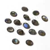 Neerupam Collection 7X5 mm size Grey Colour Natural African Labradorite AA Quality Faceted Oval Shape Loose gemstones