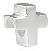 Cross Charm 925 Sterling Silver Bibble Charm Christian Charm Heart Keep Faith Charm for Pandora Bracelet