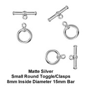 PlanetZia 6 sets Round Toggle Clasps for Jewellery Making TVT-17