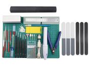 BXQINLENX Professional 35 PCS Gundam Modeller Basic Tools Craft Set For Car Aeroplane Building Model Assemble Building