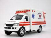 13cm Fire Department Ambulance Model - WHITE
