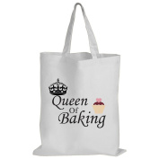 Queen Of Baking - Baking / Funny Gift Idea / Novelty Gift White Shopping / Tote Bag
