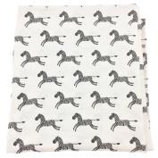 Bambino Land Big Bambino Bamboo Single Layer Muslin Blanket - Zebras