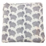 Bambino Land Big Bambino Bamboo Single Layer Muslin Blanket - Sheep