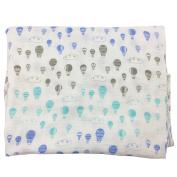 Bambino Land Big Bambino Bamboo Single Layer Muslin Blanket - Hot Air Balloons