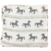 Bambino Land Big Bambino Bamboo Single Layer Muslin Blanket - Horses
