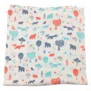 Bambino Land Big Bambino Bamboo Single Layer Muslin Blanket - Forest Animals