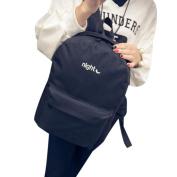Anshinto Simple Embroidered Day And Night Shoulder Bag Backpack Shoulder Bag