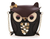 Cheesea New Women Lady Splicing Colour Cross Body Bag Owl Pattern Holder Cover Bag Hand bag