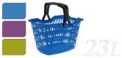 Plastic 23Lt Shopping Storage Basket Shopper with Folding Handles