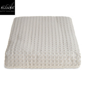 Double Bed Blanket - Allure Hotel Collection Luxury Waffle Bedspread / Blanket Double / King Size Bed Super Soft Combed Cotton Blanket Throw