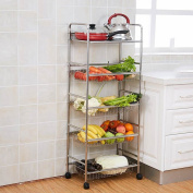 KUN PENG SHOP 304 Stainless Steel Floor Put Vegetables Pot Vegetables Kitchen Vegetables Racks A+