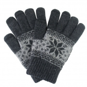 Winter Unisex Snowflake Design Touchscreen Gloves Warm Knitted Touch Screen Gloves Texting Text Gloves for All Touchscreen Electronic Devices