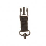 TAC SHIELD T6093BK SRB Attachment Push Button Sling, Black, Black