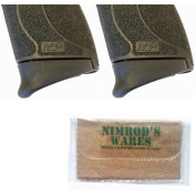 2-Pack Pearce Grip S & W M & P Shield 45 .45ACP Extension PG-MPS45 + Nimrod's Wares Microfiber Cloth