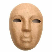 Set of 2 Paper Mache Masks Ready to Paint, Decoupage and Decorate