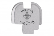 Veritas Aequitas Saints Engraved Silver Rear Slide Cover Plate For Springfield Armoury XDs 9mm .40 .45acp -SINGLE STACK ONLY- By NDZ Performance