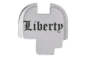 Liberty Text Olde English Engraved Silver Rear Slide Cover Plate For Springfield Armoury XDs 9mm .40 .45acp -SINGLE STACK ONLY- By NDZ Performance