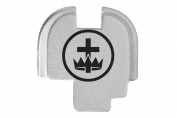 Masonic Knights Templar Engraved Silver Rear Slide Cover Plate For Springfield Armoury XDs 9mm .40 .45acp -SINGLE STACK ONLY- By NDZ Performance