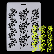 Alonea New Soft Plastic Reusable Template Stencil Spray Paint Mould Wall Furniture Decor
