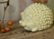GRAINRAIN Soap Mould 3D Animal Hedgehog Silicone Soap Making Mould Candle Handmade Moulds
