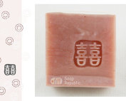 SoapRepublic Small Double Happiness Acrylic Soap Stamp / Cookie stamp