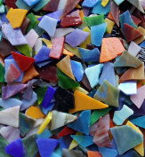 Lanyani Glass Mosaics Pieces Stained Glass, Assorted Colours and Shapes, 1kg1040ml