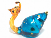 TINY CRYSTAL SNAIL GLASS BLOWN CLEAR GLASS ART SNAIL FIGURINE ANIMALS COLLECTION HAND BLOWN 2
