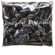 SHETLAND WOOL TUSSAH SILK Combed Top Roving for Spinning, Felting, Blending. Soft & Lofty Fibre Blend, Natural Black