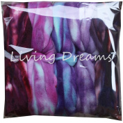 SUPERWASH MERINO Hand Dyed SPINNING fibre Super soft Wool Top Roving drafted for Hand Spinning Machine Washable Yarns. 5 beautifully coloured Mini Skeins DISCOUNT PACK Purple Haze