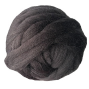 Merino Wool Chunky Yarn Giant Thick Bulky Roving Spinning for Arm Knitting Blanket, 6cm Thick, 1kg