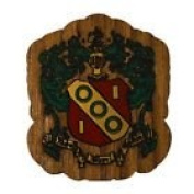 Alpha Gamma Delta Mini Single Wood Crest Fraternity Made of Wood for Paddle Mascot Board