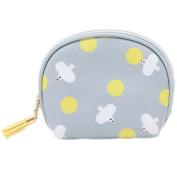 Dosige Small Fresh Waterproof Cosmetic Bag PU Leather Zipper Coin Purse Storage Bag