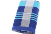 NPlusEins Pack of Price Pack Terry Towel Hand Towels Cotton Thick Soft Absorbent Colour Cheque 34 x 76 cm, blue, 1er/Pack