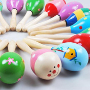 Baby Toys, SHOBDW Mini Wooden Ball Children Toys Percussion Musical Instruments Sand Hammer