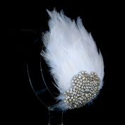 Wedding Rhinestone Headpiece, Bridal Hair pin,Wedding Tiara, Headpiece,Womens Feathers Hair Clip