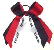 Custom Mascot Small Two Colour Flip Bow, Made in the USA, Pick your Mascot & Colours, Black Pony Band or French Cl