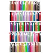 ColorBeBe – No-Crease, Soft and Stretchy Hair Ties – 100pcs (Metallic, Print and Solid) - HT-100B