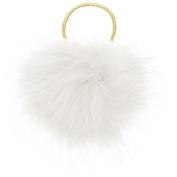 Capelli New York Ladies Oversized Pom Pony Holder White One Size